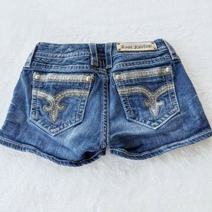 Rock Revival Sz 26 Sherry Embellished Jean Shorts